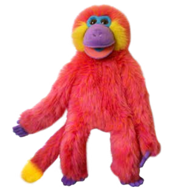 Full Body Colorful Monkey - Coral