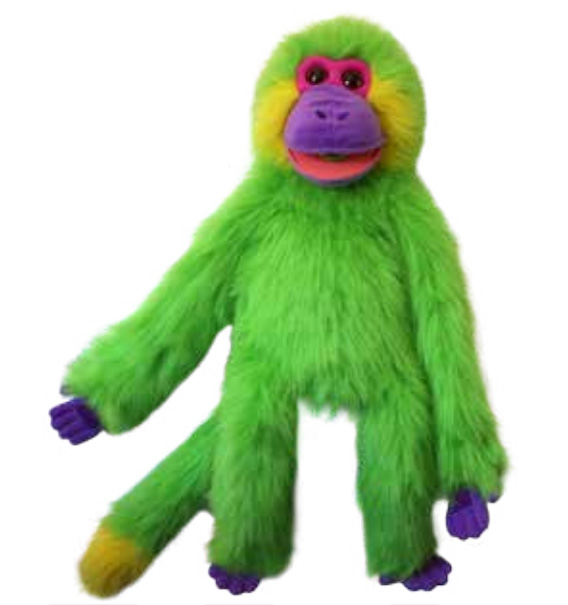 Full Body Colorful Monkey - Green