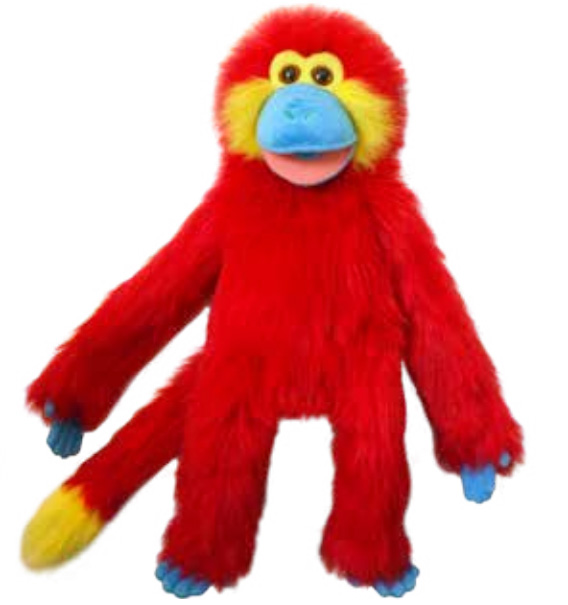 Full Body Colorful Monkey - Red