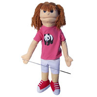 "Dual Entry Full/Half Body 28"" Susan Puppet"