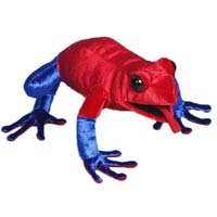 "Strawberry Dart Frog 12"" Hand Puppet"