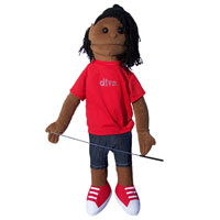 "Dual Entry Full/Half Body 28"" Michelle Puppet"