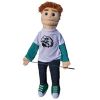 "Dual Entry Full/Half Body 28"" Ricky Puppet"