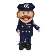 "14"" Policeman (Anglo) Glove Puppet"