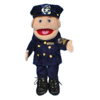 "14"" Policewoman (Anglo) Glove Puppet"
