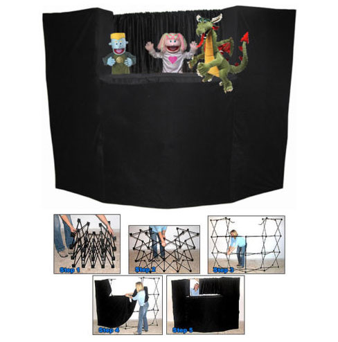 Deluxe Portable Fold Up Puppet Stage with Bag by Presto Stage.