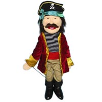 "28"" Pirate Full Body Puppet - Sculpted Face"