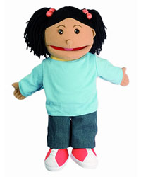 Small Puppet Buddies Girl (Hispanic)