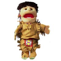 "14"" American Indian Boy Glove Puppet"