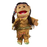 "14"" American Indian Girl Glove Puppet"