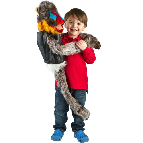 "Wrap Around 38"" Mandrill Monkey Puppet"